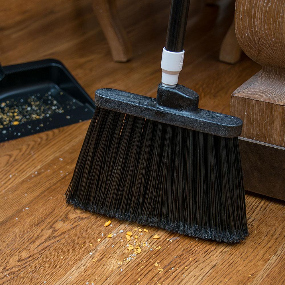 "Carlisle 3686703 12"" Angle Broom Head - Medium-Duty, Polypropylene, Black"