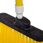 "Carlisle 3686704 12"" Angle Broom Head - Flagged Bristles, Polypropylene, Yellow"