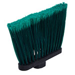 "Carlisle 3686709 12"" Angle Broom Head - Flagged Bristles, Polypropylene, Green"