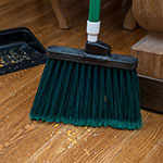 "Carlisle 3686709 12"" Angle Broom Head - Flagged Bristles, Polypropylene, Green"