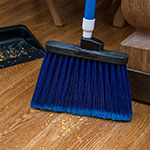 "Carlisle 3686714 12"" Angle Broom Head - Flagged Bristles, Polypropylene, Blue"