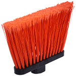 "Carlisle 3686724 12"" Angle Broom Head - Medium-Duty, Polypropylene, Orange"