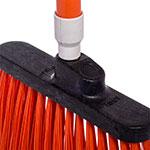 "Carlisle 3686724 12"" Angle Broom Head - Medium-Duty, Polypropylene, Orange"