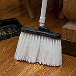 "Carlisle 3686802 12"" Angle Broom Head - Upright Handle Hole, Polypropylene, White"