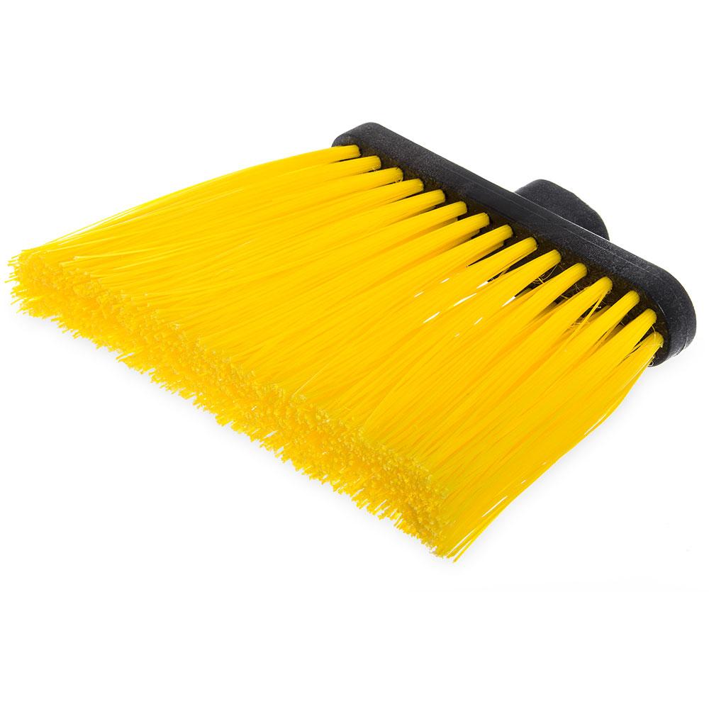 "Carlisle 3686804 12"" Angle Broom Head - Upright Handle Hole, Polypropylene, Yellow"