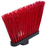 "Carlisle 3686805 12"" Angle Broom Head - Upright Handle Hole, Polypropylene, Red"