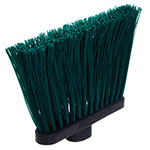 "Carlisle 3686809 12"" Angle Broom Head - Upright Handle Hole, Polypropylene, Green"