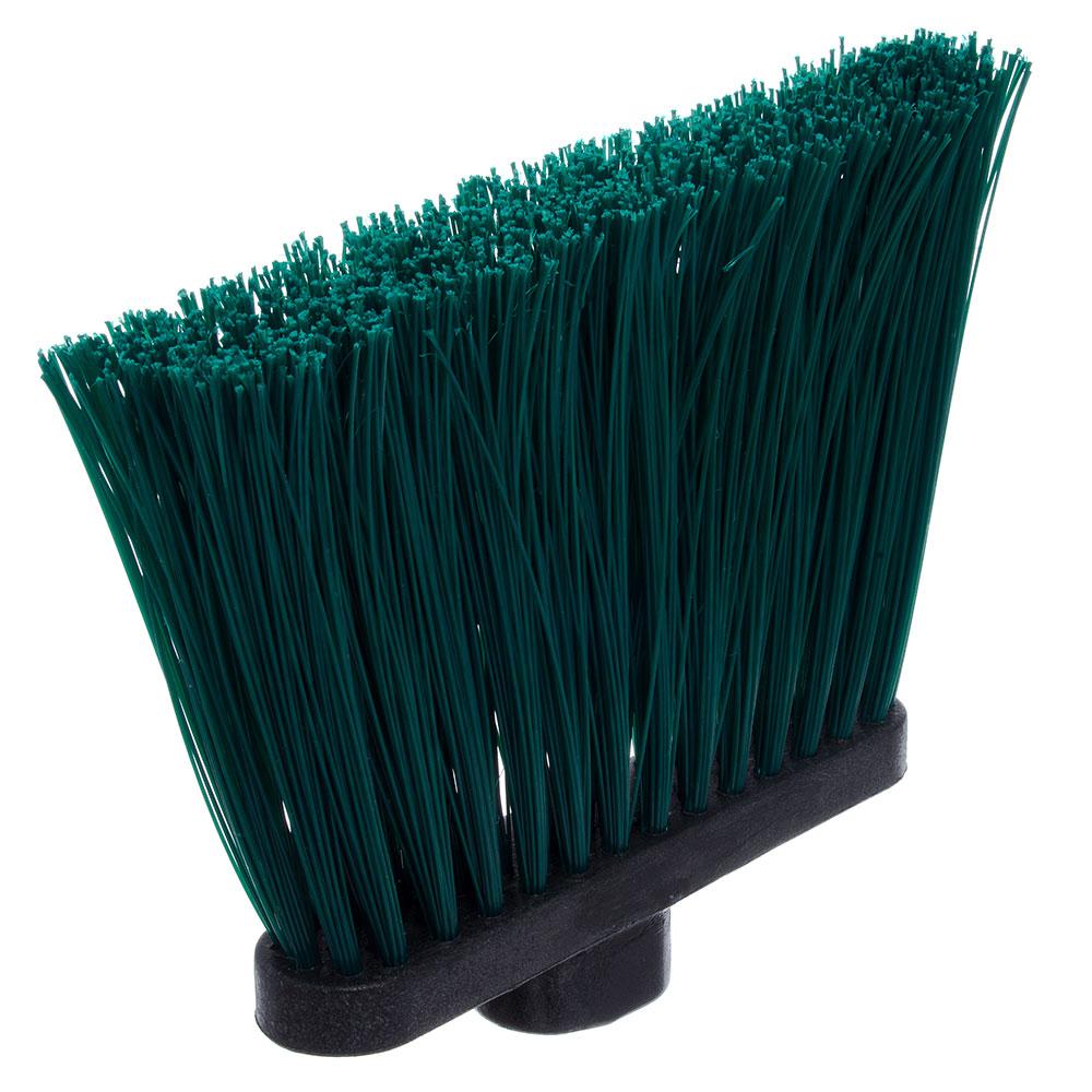 "Carlisle 3686809 12"" Angle Broom Head - Upright Handle Hole, Polypropylene, Green"