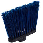 "Carlisle 3686814 12"" Angle Broom Head - Upright Handle Hole, Polypropylene, Blue"