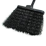 """Carlisle 3688403 13"""" Warehouse Broom - 48"""" Blue Metal Handle, Flagged Bristles, Black"""