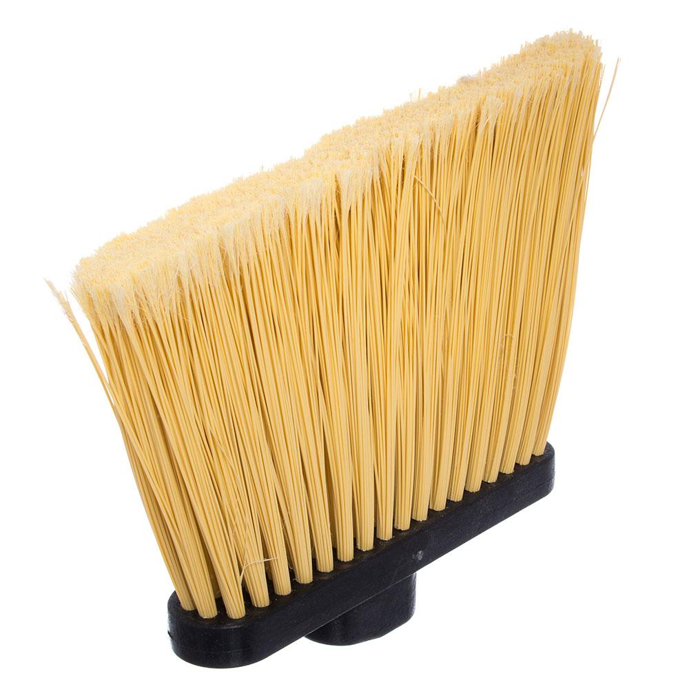 """Carlisle 3688500 12"""" Angle Broom - 48"""" Metal Handle, Unflagged Bristles, Black"""