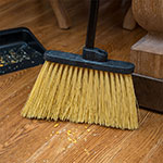 "Carlisle 3688500 12"" Angle Broom - 48"" Metal Handle, Unflagged Bristles, Black"