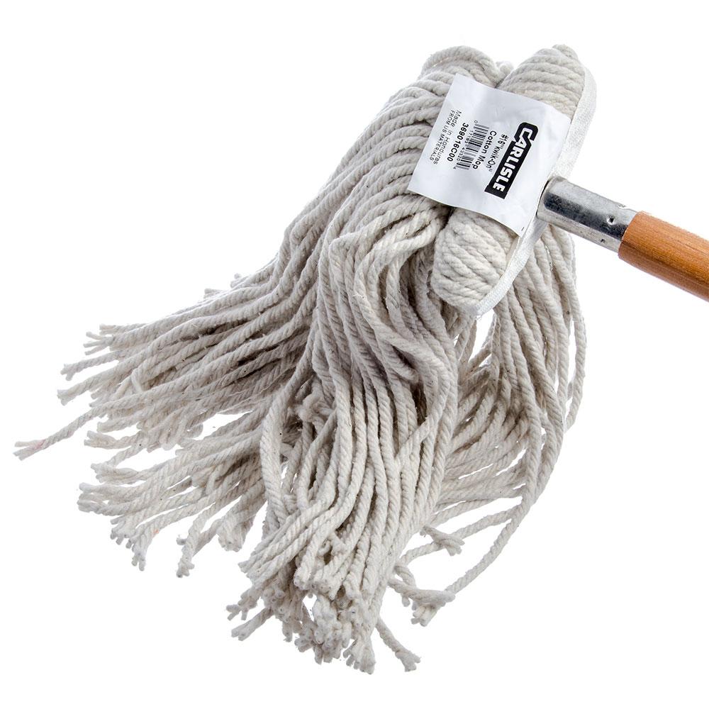 Carlisle 369016C00 Screw Top Mop Head - #16, 4-Ply, Cut End, Cotton Yarn