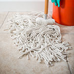 Carlisle 369024C00 Screw Top Mop Head - #24, 4-Ply, Cut End, Cotton Yarn