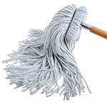 Carlisle 369024R00 Screw Top Mop Head - #24, 4-Ply, Cut End, Rayon Yarn