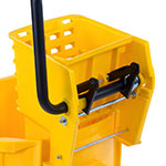Carlisle 3690404 35-qt Mop Bucket Combo - Side Press Wringer, Polyethylene, Yellow