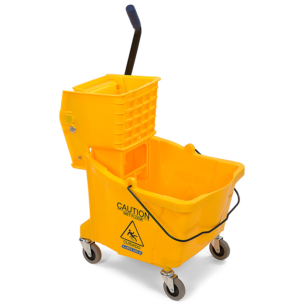 Carlisle Food Service 3690404 26/35-qt Mop Bucket/Wringer Combination Yellow Restaurant Supply