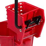 Carlisle 3690405 35-qt Mop Bucket Combo - Side Press Wringer, Polyethylene, Red