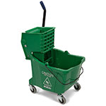Carlisle 36904-09 35-qt Mop Bucket Combo - Side Press Wringer, Polyethylene, Green