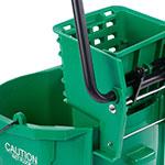 Carlisle 3690409 35-qt Mop Bucket Combo - Side Press Wringer, Polyethylene, Green
