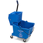 Carlisle 3690414 35-qt Mop Bucket Combo - Side Press Wringer, Polyethylene, Blue