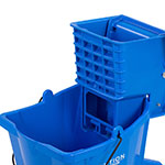 Carlisle 3690414 35-qt Mop Bucket Combo - Side Press Wringer, Polyethylene, Blue