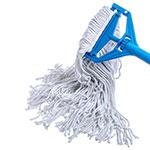 Carlisle 369074B00 Wet Mop Head - #24, 4-Ply, Cut-End, Rayon Yarn