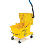 Carlisle 3690804 26-qt Mop Bucket Combo - Side Press Wringer, Polyethylene, Yellow