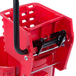 Carlisle 3690805 26-qt Mop Bucket Combo - Side Press Wringer, Polyethylene, Red