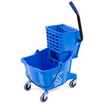 Carlisle 36908-14 26-qt Mop Bucket Combo - Side Press Wringer, Polyethylene, Blue