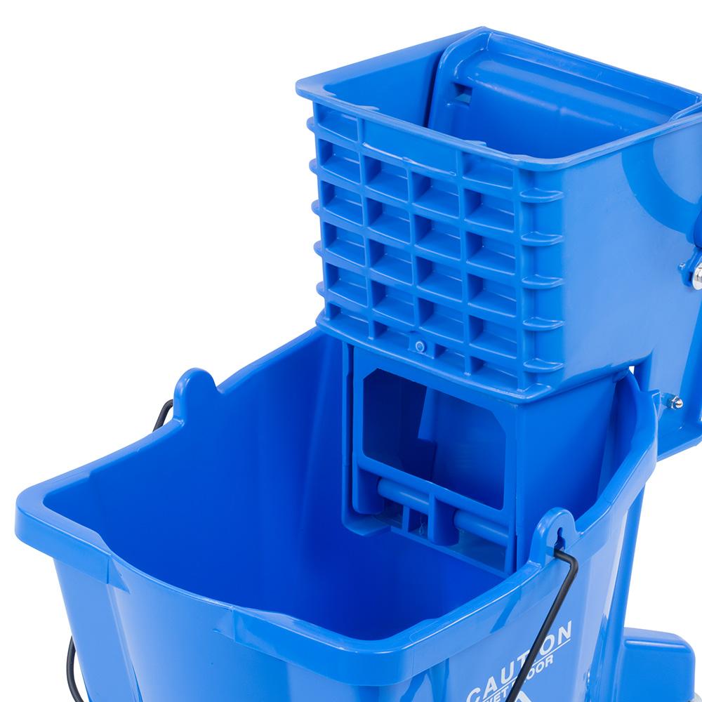 Carlisle 3690814 26-qt Mop Bucket Combo - Side Press Wringer, Polyethylene, Blue