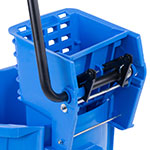Carlisle 3690814 26-qt Mop Bucket Combo - Side Press Wringer, Polyethylene, Blue