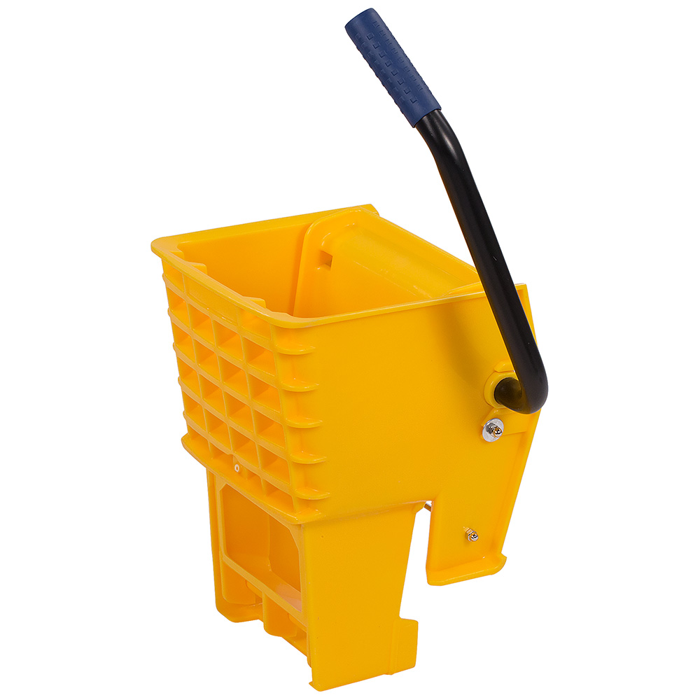 Carlisle 36908W04 Side-Press Mop Wringer - Fits 26/35-qt, Polyethylene, Yellow