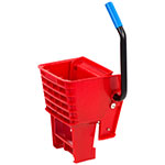 Carlisle 36908W05 Side-Press Mop Wringer - Fits 26/35-qt, Polyethylene, Red