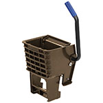 Carlisle 36908W69 Side-Press Mop Wringer - Fits 26/35-qt, Polyethylene, Brown
