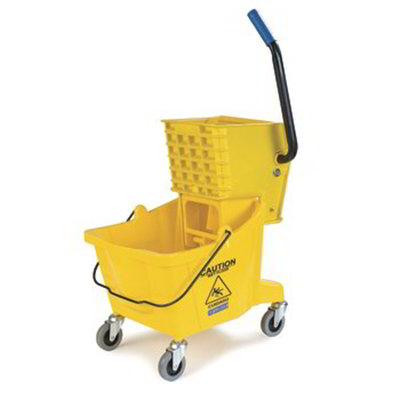 Carlisle 3691804 30-qt Mop Bucket - Side Press Wringer, Yellow