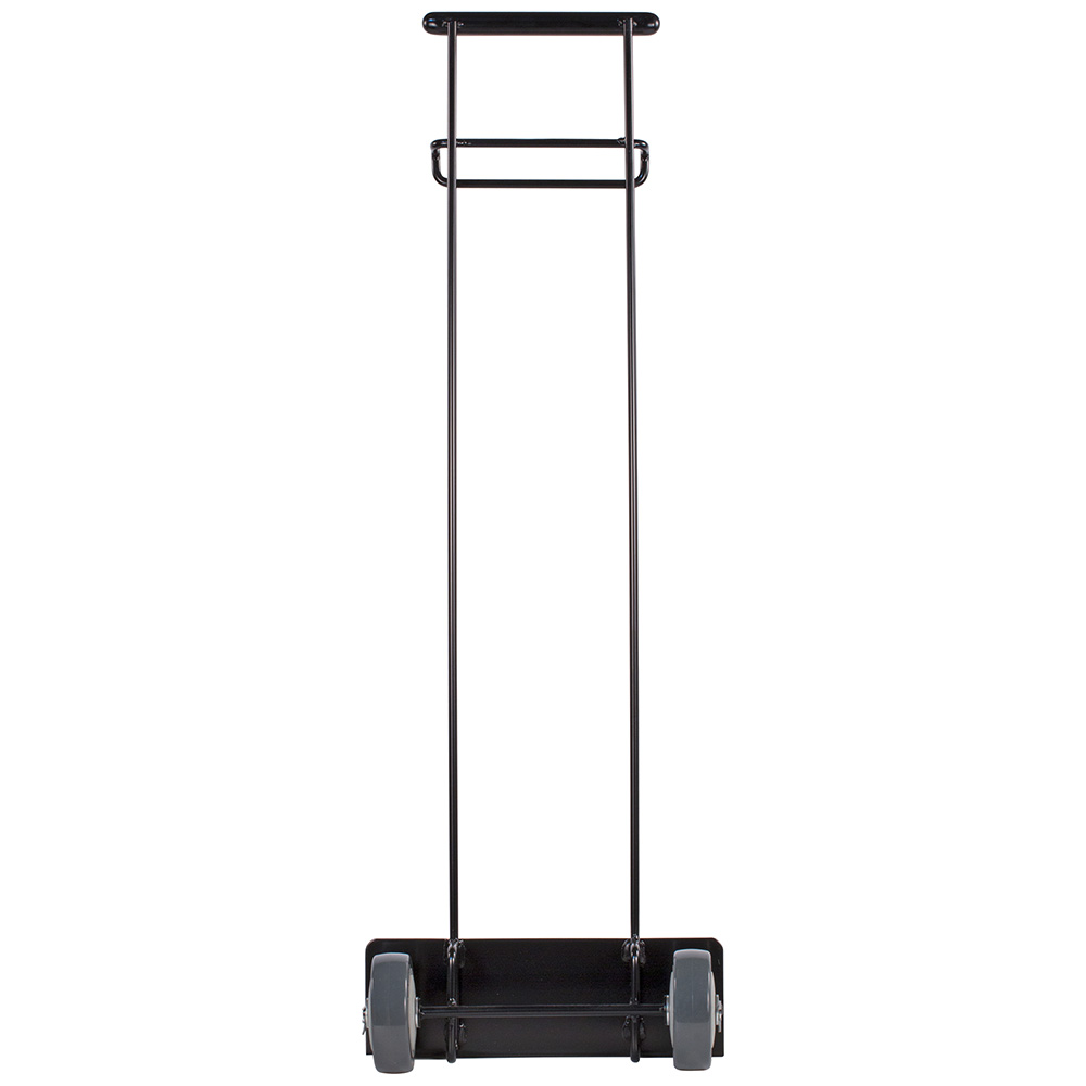 Carlisle 36920-103 Rectangular Metal Trash Can Dolly w/ Flat Center & 100-lb Capacity