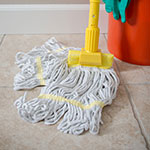 Carlisle 369412B00 Wet Mop Head - 4-Ply, Synthetic/Cotton Yarn, Yellow/White