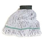 Carlisle 369418B00 Wet Mop Head - 4-Ply, Synthetic/Cotton Yarn, Green/White