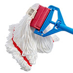 Carlisle 36942002 Wet Mop Head - Looped End, Microfiber Yarn, Red/White