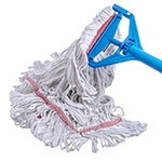 Carlisle 369425B00 Wet Mop Head - 4-Ply, Looped-End, Synthetic/Cotton Yarn, Red/White