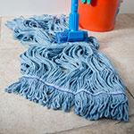 Carlisle 36946014 Wet Mop Head - 4-Ply, Synthetic/Cotton Yarn, Blue