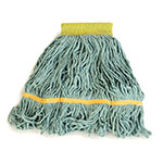 Carlisle 369472B09 Wet Mop Head - 4-Ply, Synthetic/Cotton Yarn, Green/Yellow