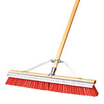 "Carlisle 36952424 24"" ScraperBroom Sweep - Coarse/Heavy, Hardwood Block, Orange Bristles"