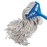 Carlisle 36973200 Wet Mop Head - #32, 8-Ply, Cut-End, Natural Cotton Yarn