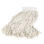Carlisle 369811B00 Wet Mop Head - #16, 4-Ply, Cut-End, White Cotton Yarn