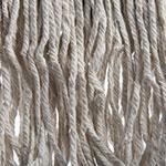 Carlisle 369814B00 Wet Mop Head - #20, 4-Ply, Cut-End, White Cotton Yarn