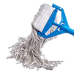 Carlisle 369817B00 Wet Mop Head - #24, 4-Ply, Cut-End, White Cotton Yarn