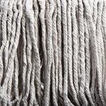 Carlisle 369820B00 Wet Mop Head - #20, 4-Ply, Cut-End, Natural Cotton Yarn