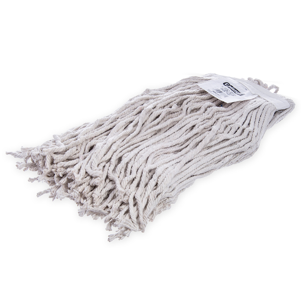 Carlisle 369820B00 Wet Mop Head - #20, 4-Ply, Cut-End, Natural Cotton Yarn